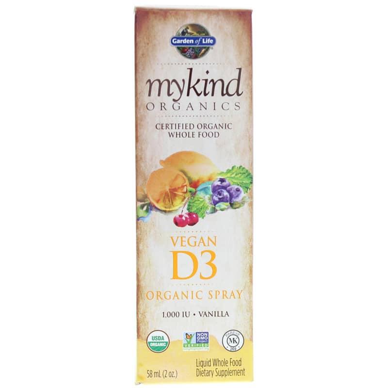 Garden of Life mykind Organics Vegan D3 1,000 IU Organic Spray Vanilla