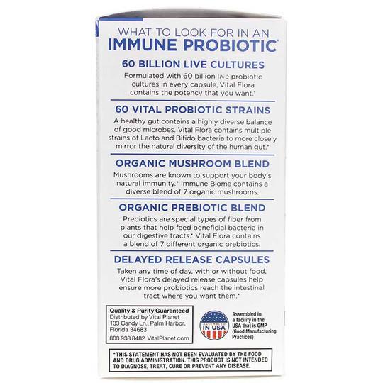 Vital Flora Immune Biome Probiotic 60 Billion CFU Shelf Stable
