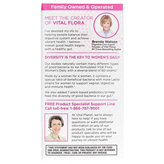 Vital Flora Pro Women's Probiotic + Prebiotics Shelf Stable