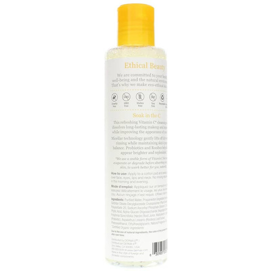 Vitamin C Micellar Cleansing Water Derma E