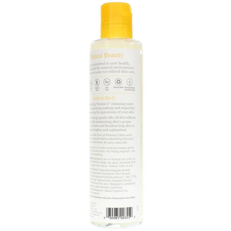 Vitamin C Micellar Cleansing Water Derma E
