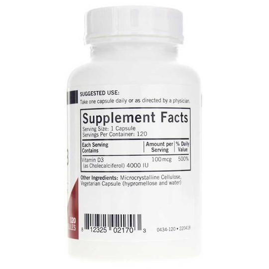 Vitamin D-3 4000 IU Capsules