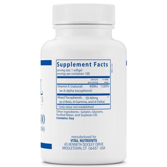 Vitamin E 400 (with Mixed Tocopherols)