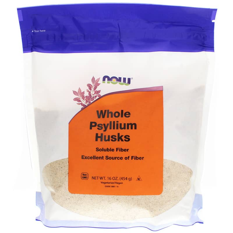 Whole Psyllium Husks Powder Now Foods